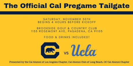 The Official Cal Tailgate vs UCLA tickets