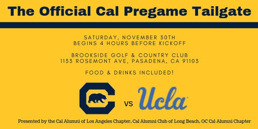 The Official Cal Tailgate vs UCLA