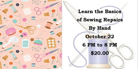 Learn the Basics of Sewing Repairs by Hand tickets