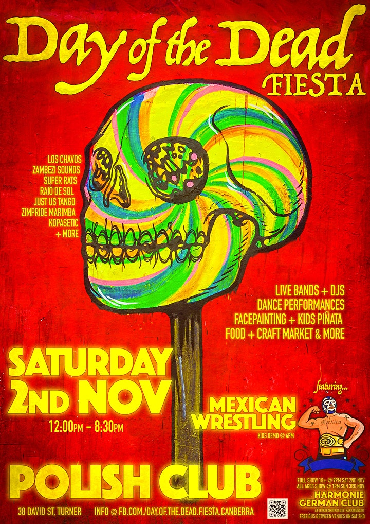 Day of the Dead Fiesta - Canberra - 2019 - TICKETS AVAILABLE AT THE DOOR image