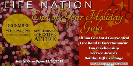 LifeNation Holiday Gala Celebration tickets