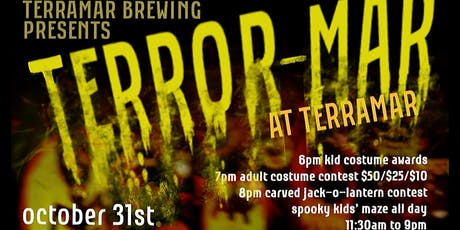 """Terror-Mar at Terramar Brewing"" Halloween Party tickets"