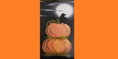 "Painting Party with Creatively Carrie ""Pumpkins and Crow"""