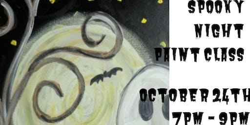 Spooky Night Paint  Class