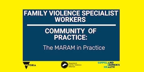 CoP the MARAM in Practice for Women's Specialists tickets