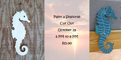 Paint a Seahorse Cut Out