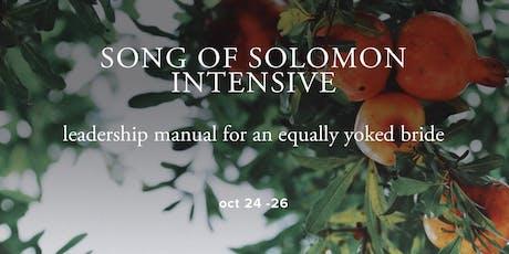 Song of Solomon Intensive  tickets