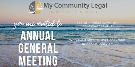 My Community Legal AGM with special guest speaker Justice Daubney AM tickets