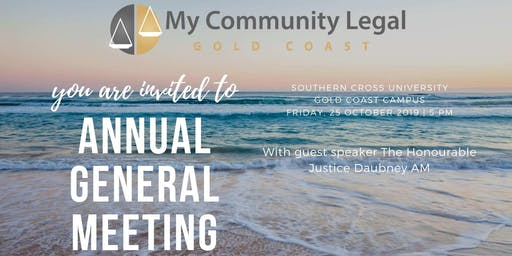 My Community Legal AGM with special guest speaker Justice Daubney AM