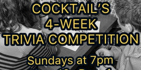 4-week Trivia Competition at Cocktails tickets