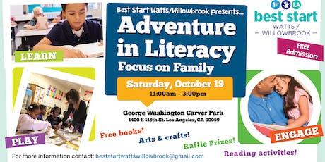 """Best Start Watts/Willowbrook presents... """"Adventure in Literacy"""" tickets"""