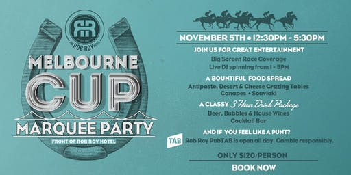 Melbourne Cup Marquee Party