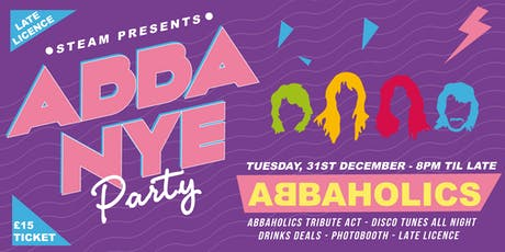 Steam's  New Year's Eve: Abba disco and live performance tickets