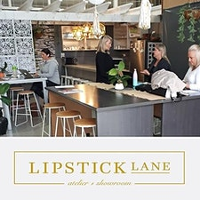 Jeanie Hunter - studio manager of Lipstick Lane  logo