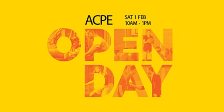 ACPE Open Day - 1 February 2020 - Sydney Olympic Park tickets