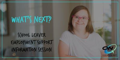 What's Next? Upper Mount Gravatt NDIS School Leaver Employment Info Session tickets
