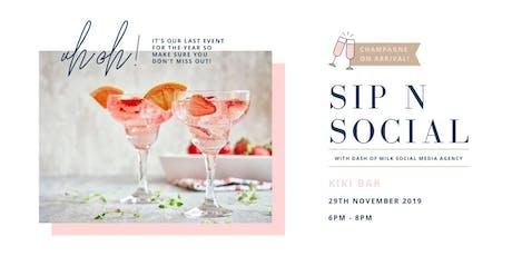 Sip N Social | Dash of Milk Agency tickets