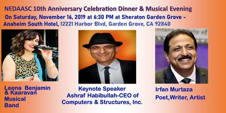 NEDAASC Tenth Anniversary Celebration Dinner and Dinner Musical Evening tickets