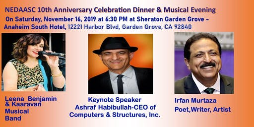 NEDAASC Tenth Anniversary Celebration Dinner and Dinner Musical Evening