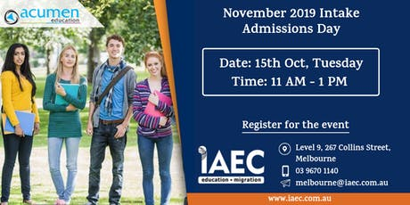 Acumen Institute Admissions Day tickets