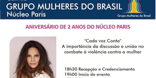 """Aniversário 2 anos Núcleo Paris """"Cada Voz Conta""""  com Luiza Brunet"""