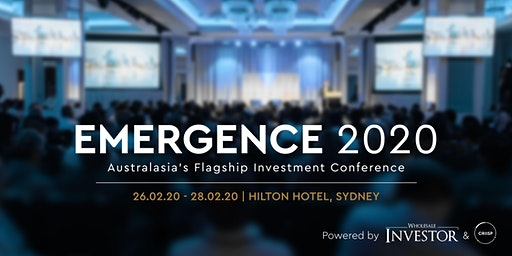 Emergence 2020 - Australasia's flagship investment conference