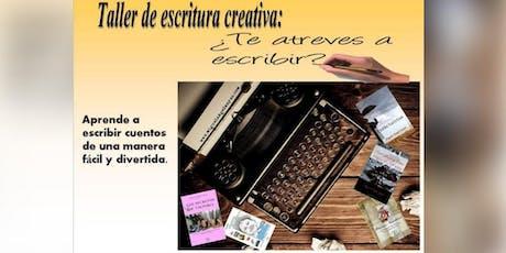 Taller de escritura creativa: ¿Quieres ser escritor? tickets