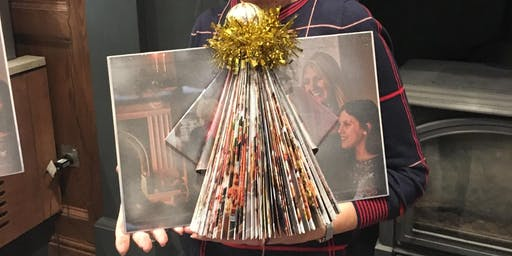Christmas book folding angel/decoupage cards