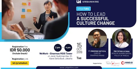 """[PAID HR EVENT] UrbanTalks """"How to Lead a Successful Culture Change"""" tickets"""