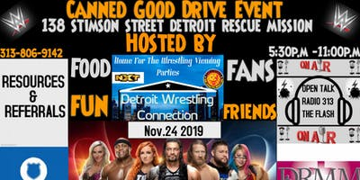WWE Survivor Series Viewing Party Canned GoodDrive