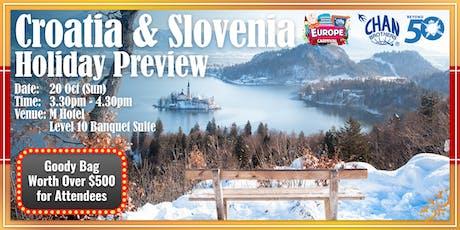 Croatia & Slovenia Holiday Preview  tickets