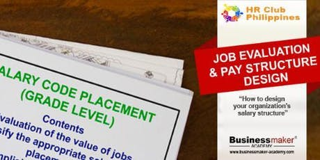 JOB EVALUATION & PAY STRUCTURE tickets
