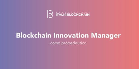 BLOCKCHAIN INNOVATION MANAGER biglietti