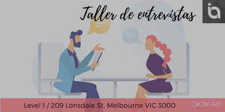MELBOURNE | Taller de entrevistas tickets