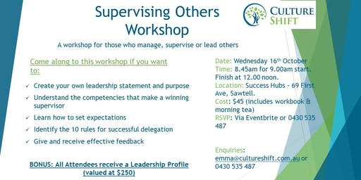Supervising Others - a Workshop for Managers and Business Owners