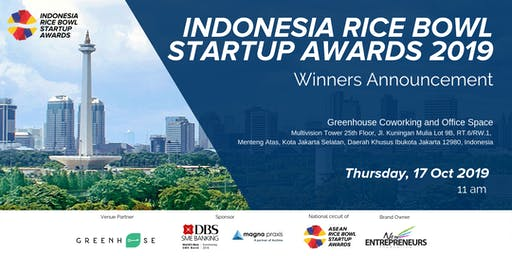 Indonesia Rice Bowl Startup Awards 2019 - Winners Announcement