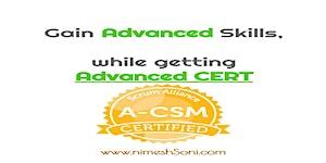 Advanced Certified ScrumMaster (A-CSM) - Online -...