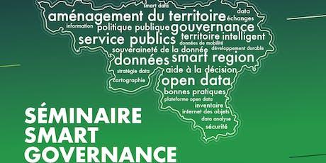Séminaire Smart Governance - Gouverner ses données pour mieux gouverner son territoire billets