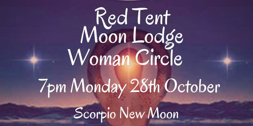 October Red Tent Moon Lodge Woman Circle