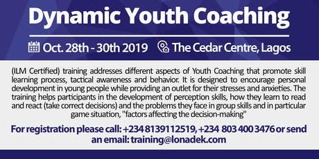 Dynamic Youth Coaching Training tickets