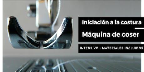 INICIACIÓN A LA COSTURA. Intensivo máquina de coser. entradas