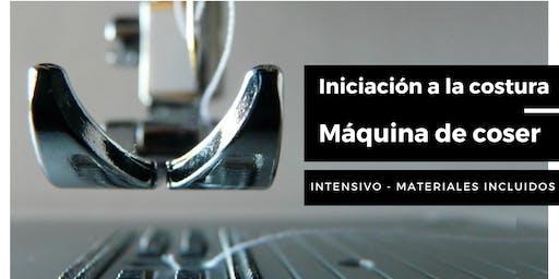 INICIACIÓN A LA COSTURA. Intensivo máquina de coser.