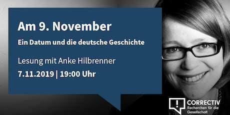 Am 9. November - Ein Datum und die deutsche Geschichte Tickets