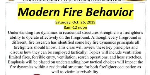 Modern Fire Behavior Lecture