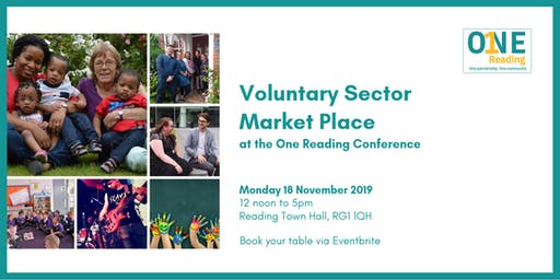 Voluntary Sector Market Place at the One Reading Conference