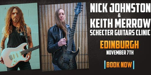 Keith Merrow & Nick Johnston UK Schecter Clinic at Voodoo Rooms Edinburgh
