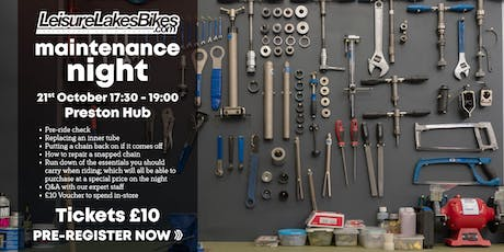 Bike Maintenance Evening - Leisure Lakes Bikes Preston Hub tickets