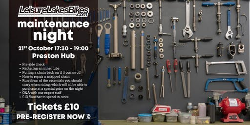 Bike Maintenance Evening - Leisure Lakes Bikes Preston Hub