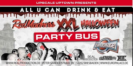RED MADNESS HALLOWEEN PARTY BUS TO EUROPALACE