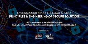 Principle and Engineering of Secure Solution (25 - 27...